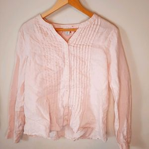 Sundance Linen Blush Pink Blouse